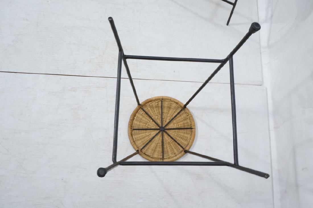 4 Modernist UMANOFF Style Woven Rattan Bar Stools - 5