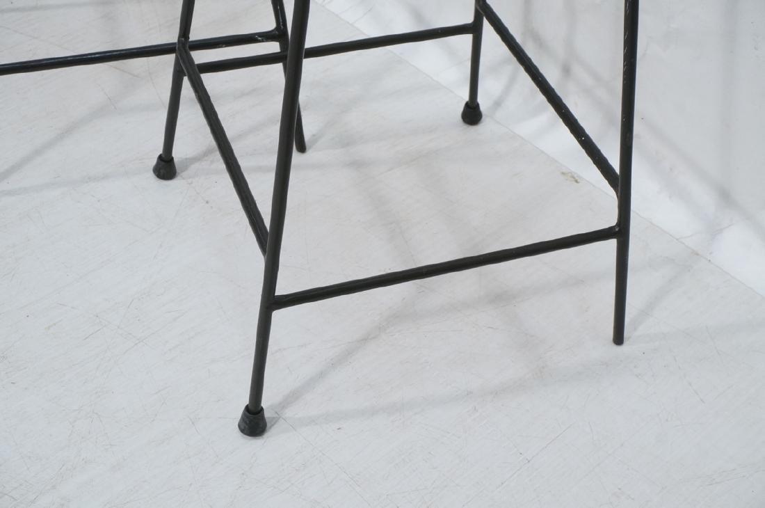 4 Modernist UMANOFF Style Woven Rattan Bar Stools - 6