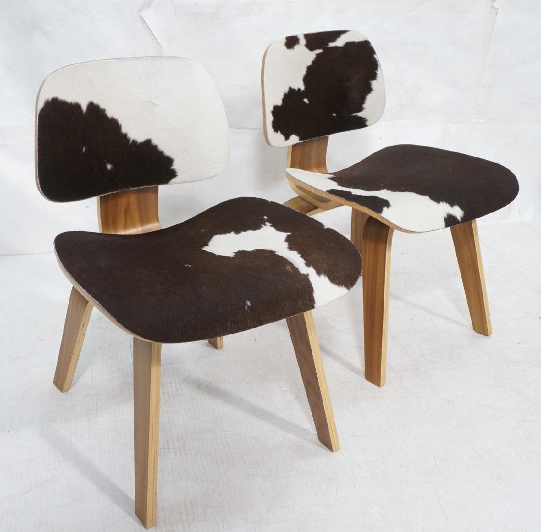 Pr Cowhide Fur HERMAN MILLER Style LCW Lounge Cha