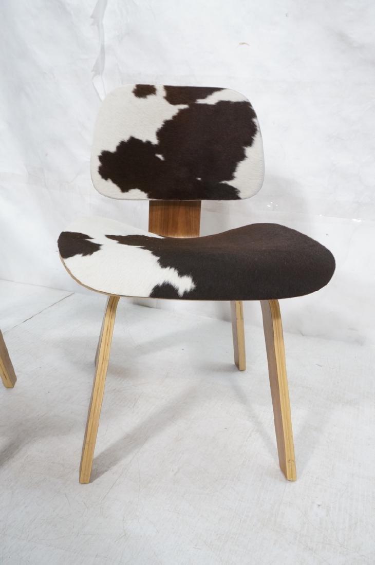 Pr Cowhide Fur HERMAN MILLER Style LCW Lounge Cha - 3