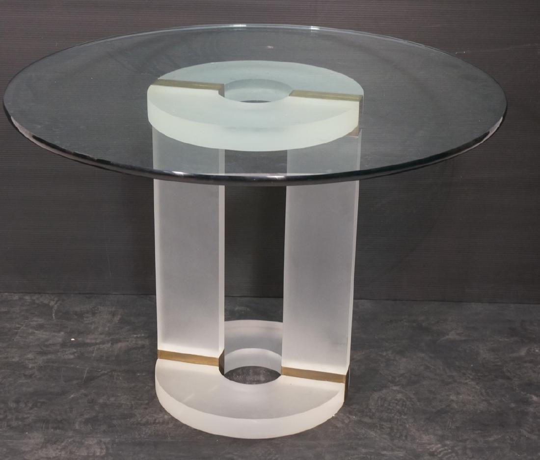 "HOLLIS JONES Inspired Lucite Dining Table. .75"" t"