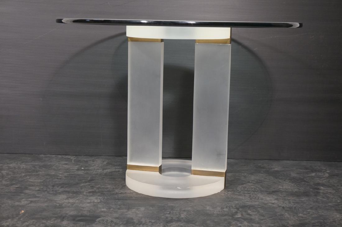 "HOLLIS JONES Inspired Lucite Dining Table. .75"" t - 2"