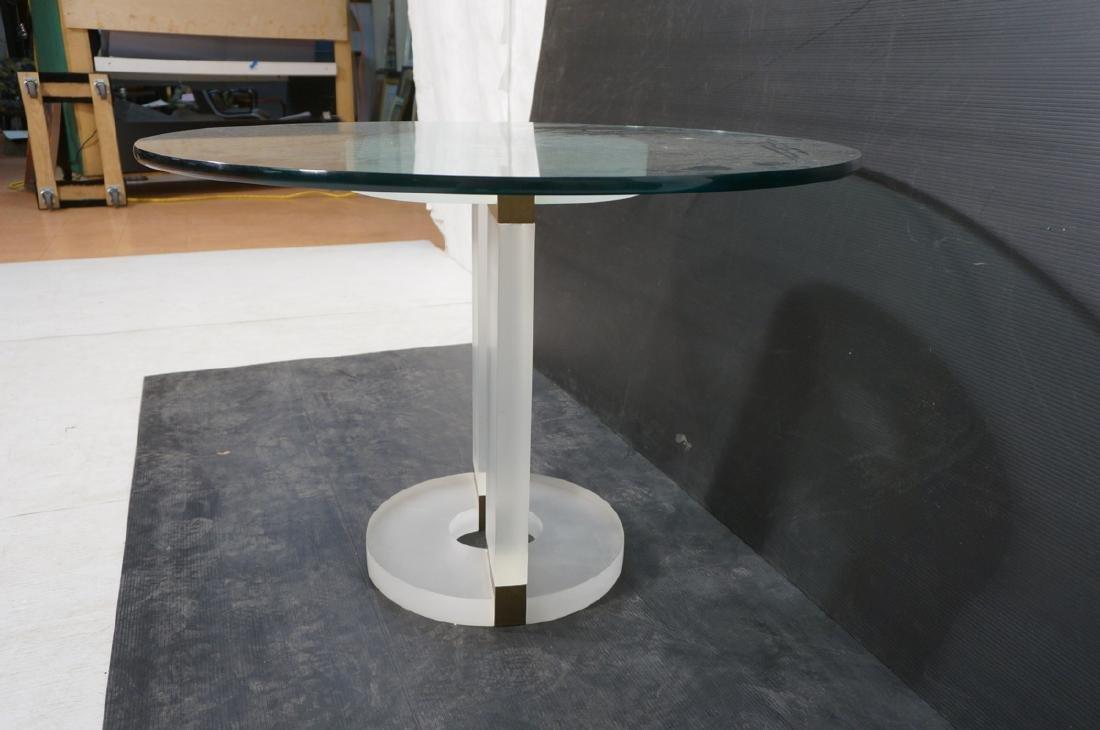 "HOLLIS JONES Inspired Lucite Dining Table. .75"" t - 3"