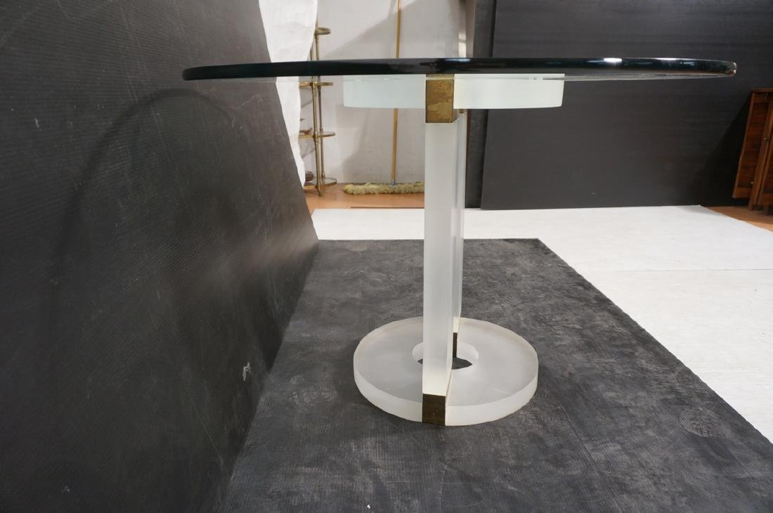 "HOLLIS JONES Inspired Lucite Dining Table. .75"" t - 4"