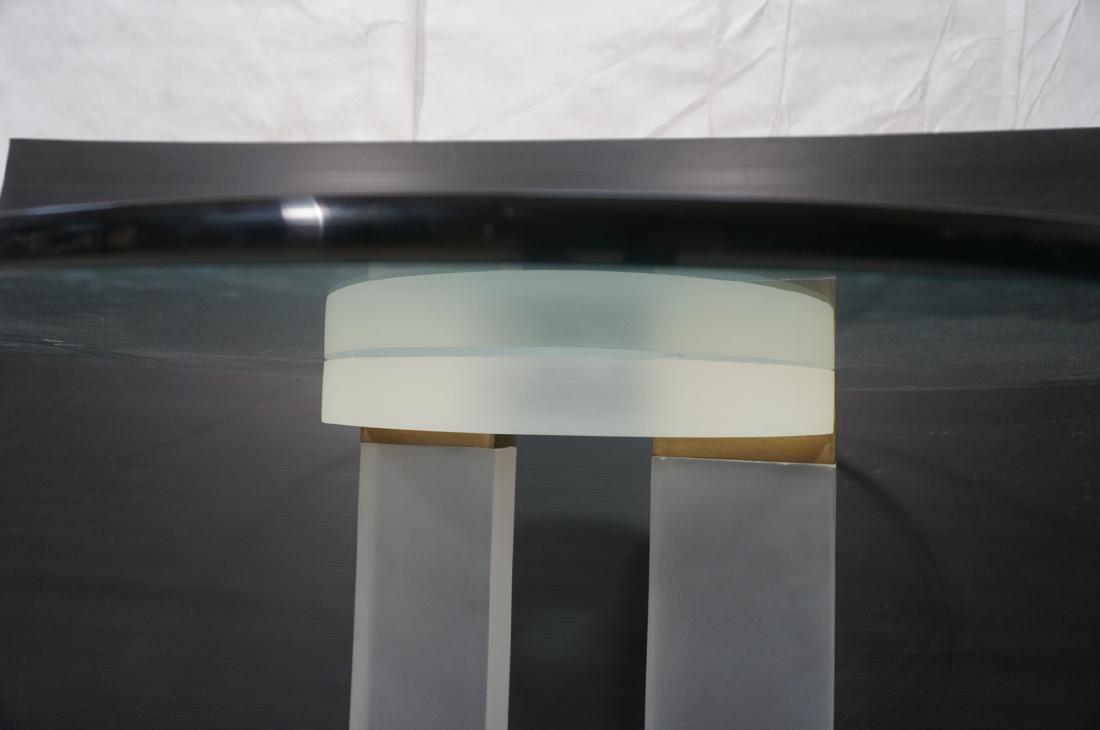 "HOLLIS JONES Inspired Lucite Dining Table. .75"" t - 6"