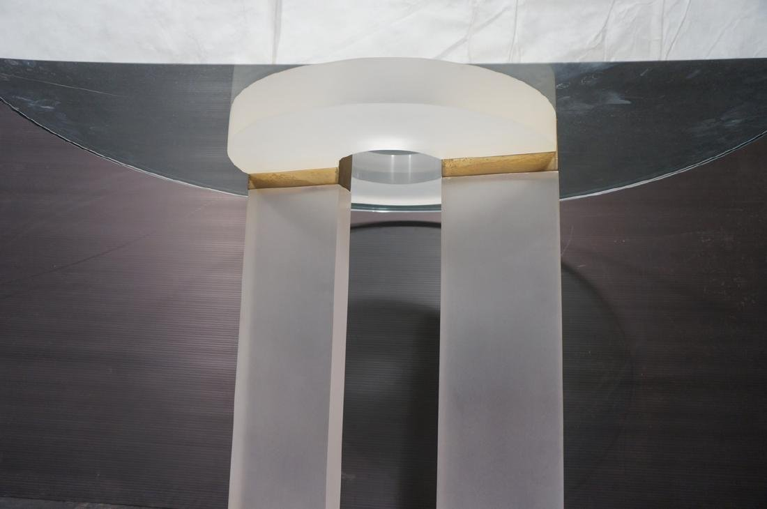 "HOLLIS JONES Inspired Lucite Dining Table. .75"" t - 7"