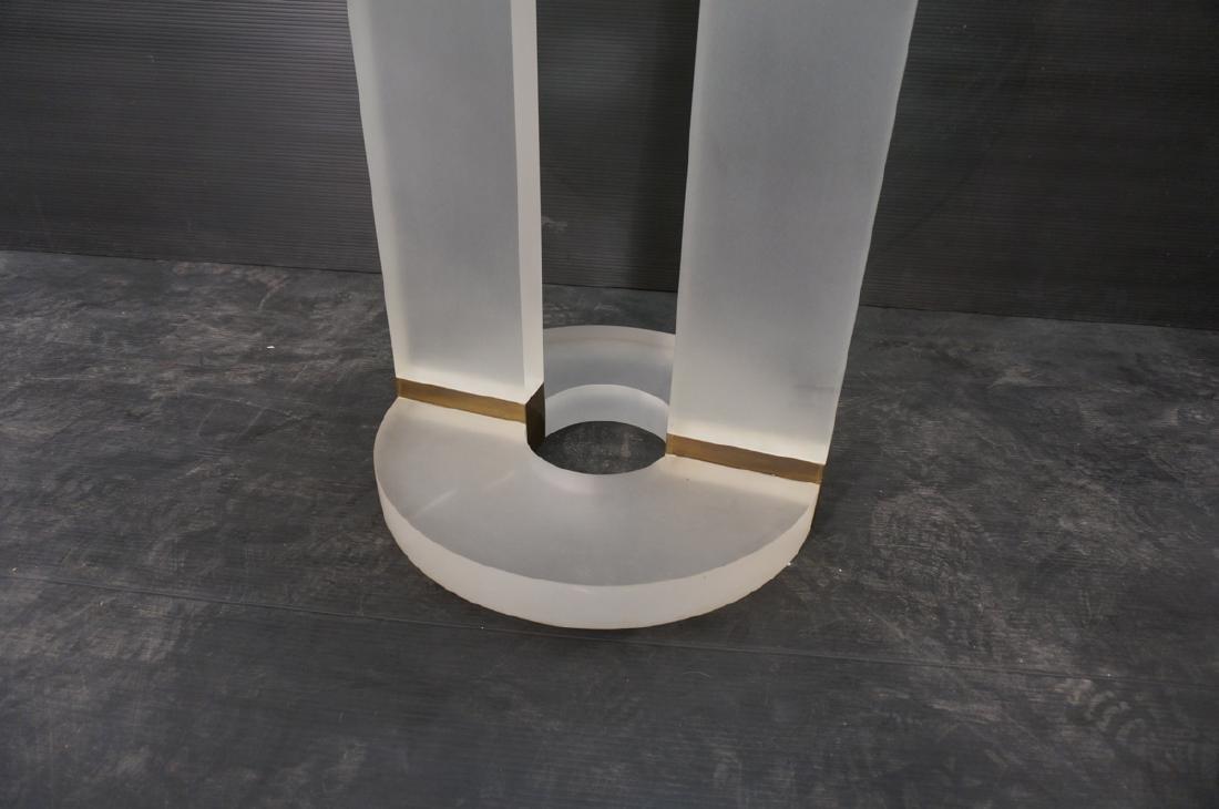 "HOLLIS JONES Inspired Lucite Dining Table. .75"" t - 8"