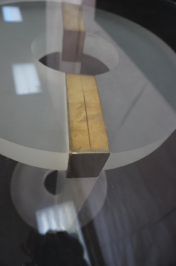 "HOLLIS JONES Inspired Lucite Dining Table. .75"" t - 9"