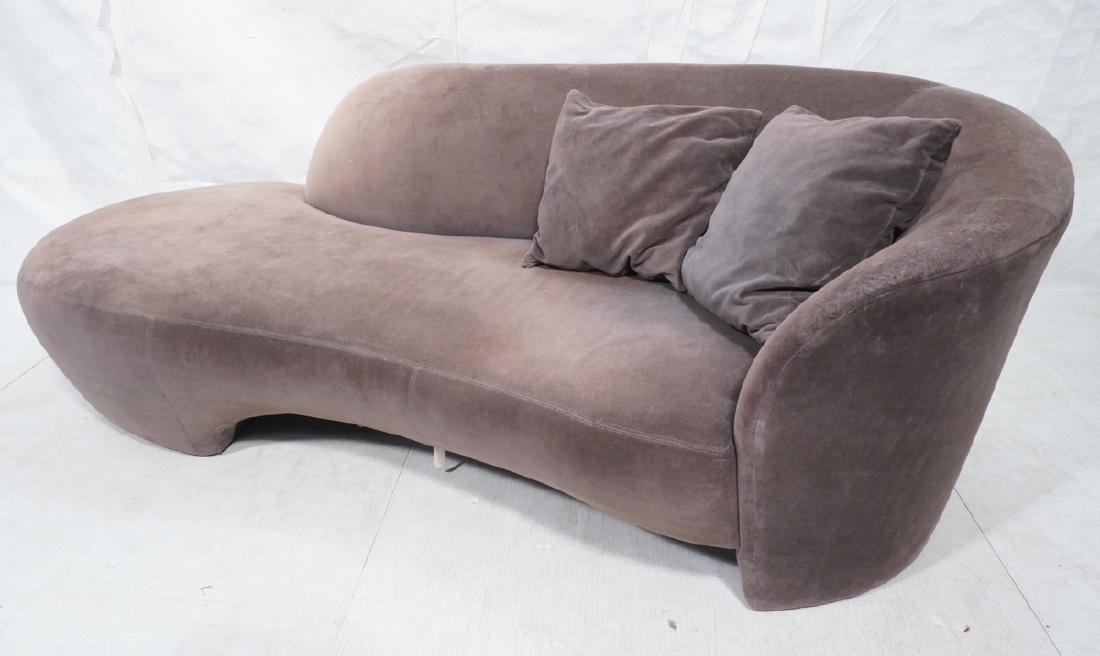 VLADIMIR KAGAN Cloud Modern Sofa Couch. Smoky gra