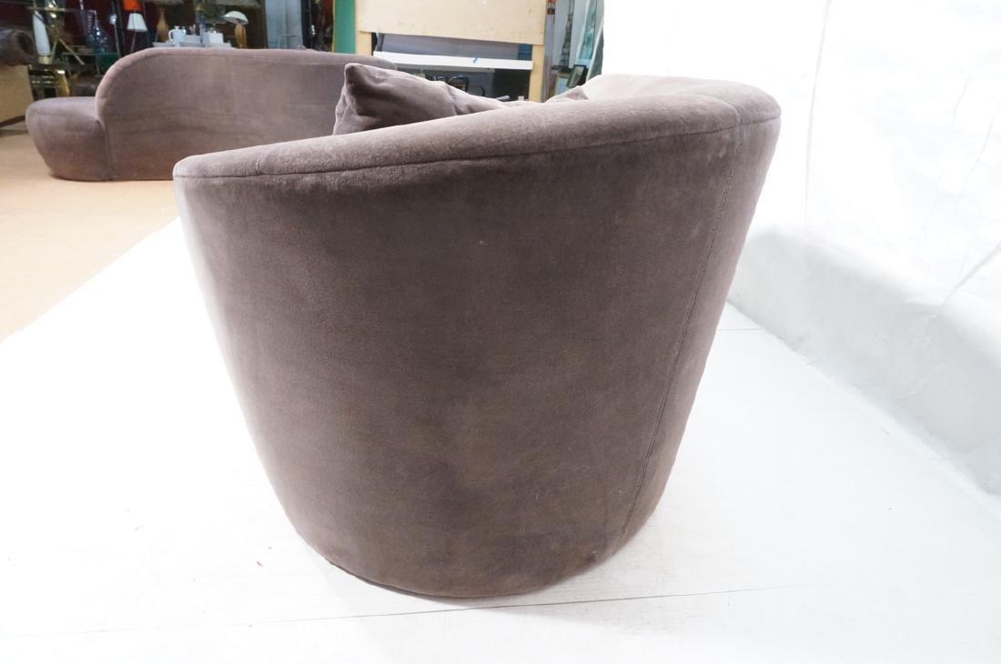 VLADIMIR KAGAN Cloud Modern Sofa Couch. Smoky gra - 6