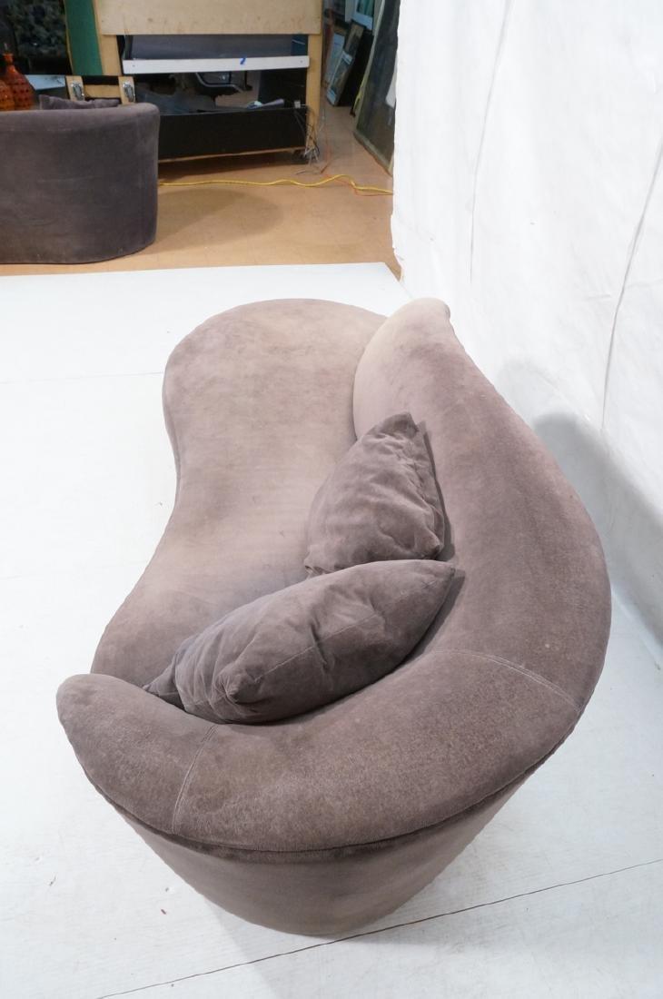 VLADIMIR KAGAN Cloud Modern Sofa Couch. Smoky gra - 7