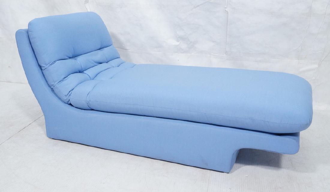 Light Blue Fabric Modern Chaise Lounge. Sleigh fo