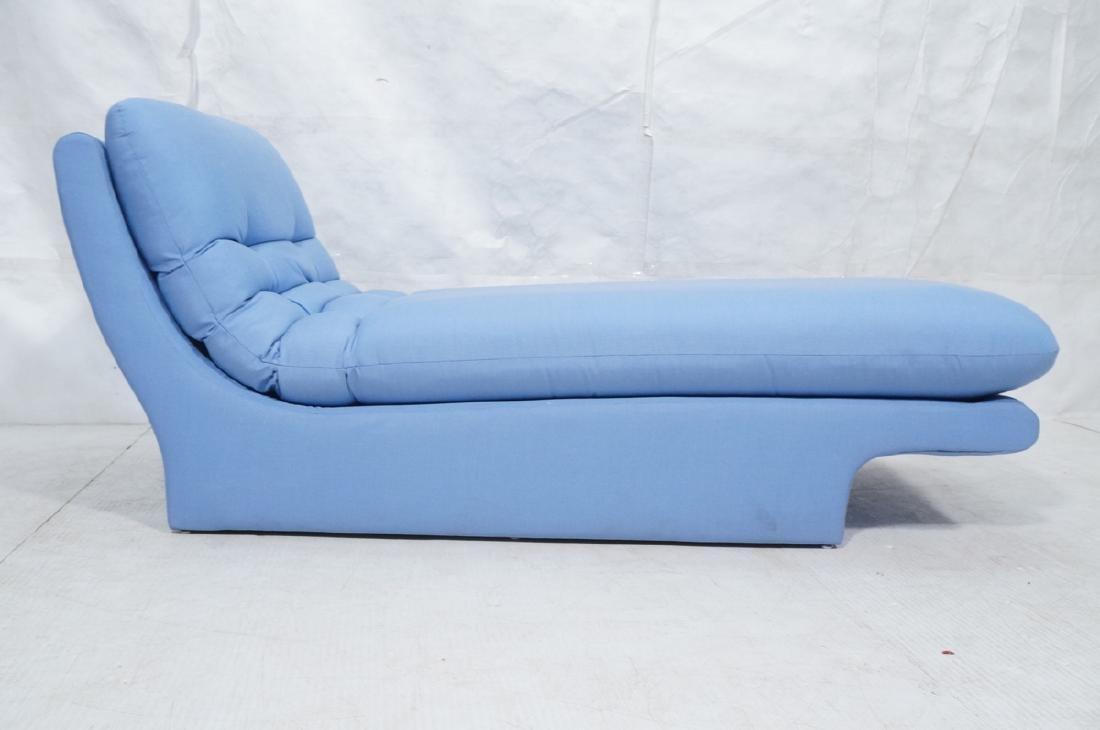 Light Blue Fabric Modern Chaise Lounge. Sleigh fo - 2
