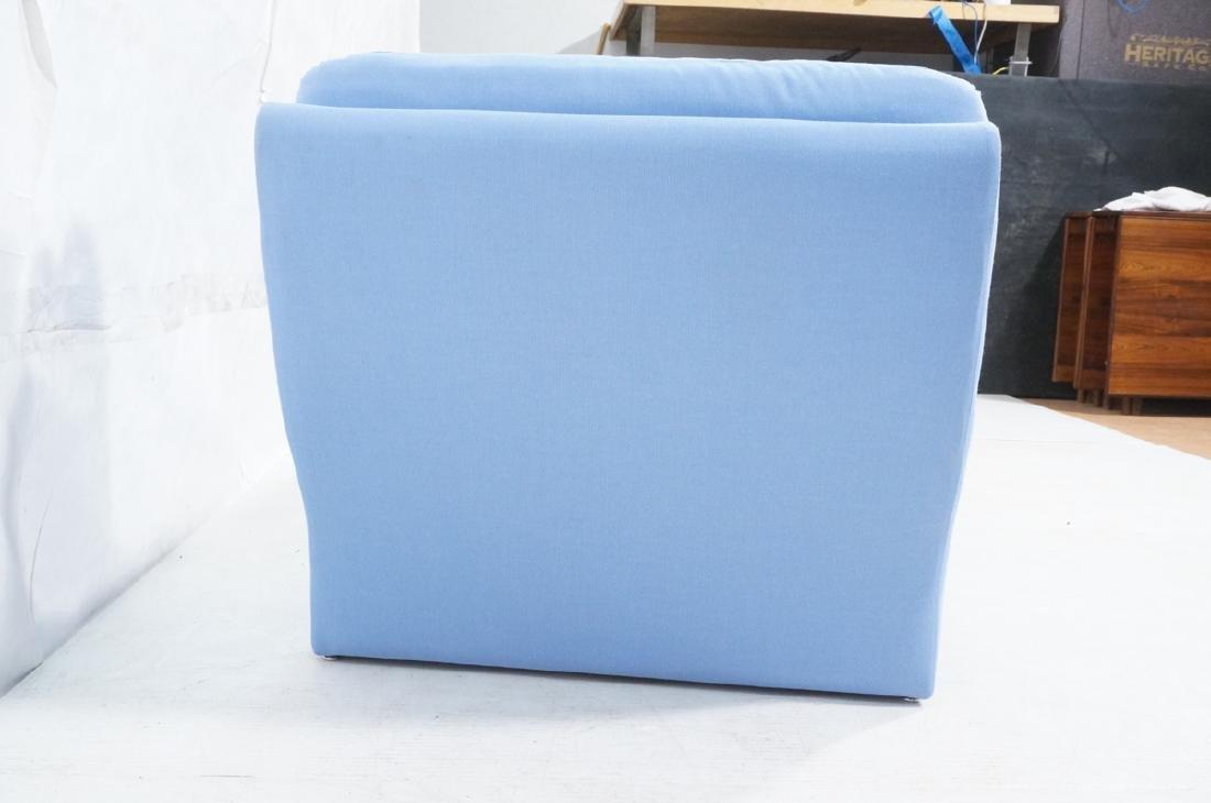 Light Blue Fabric Modern Chaise Lounge. Sleigh fo - 3