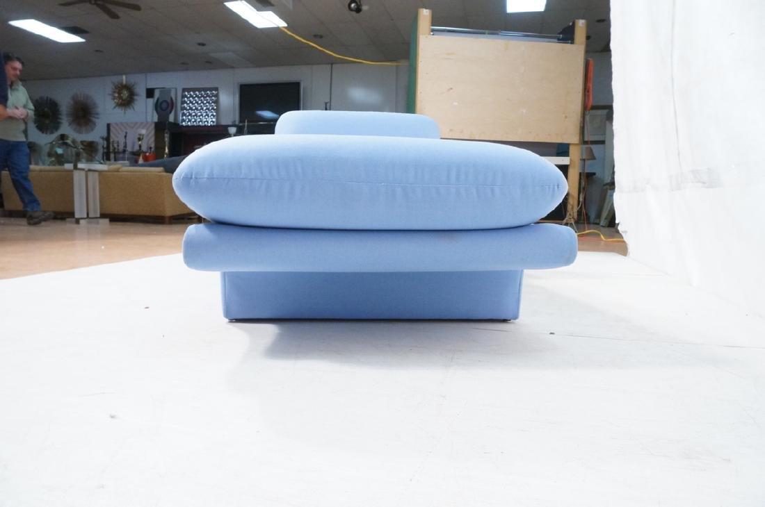 Light Blue Fabric Modern Chaise Lounge. Sleigh fo - 5