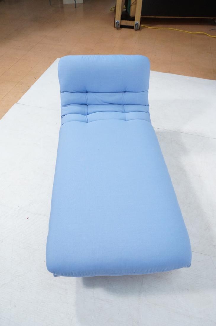 Light Blue Fabric Modern Chaise Lounge. Sleigh fo - 6