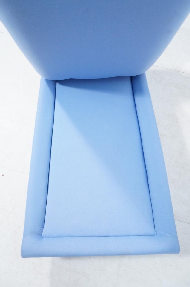 Light Blue Fabric Modern Chaise Lounge. Sleigh fo - 7