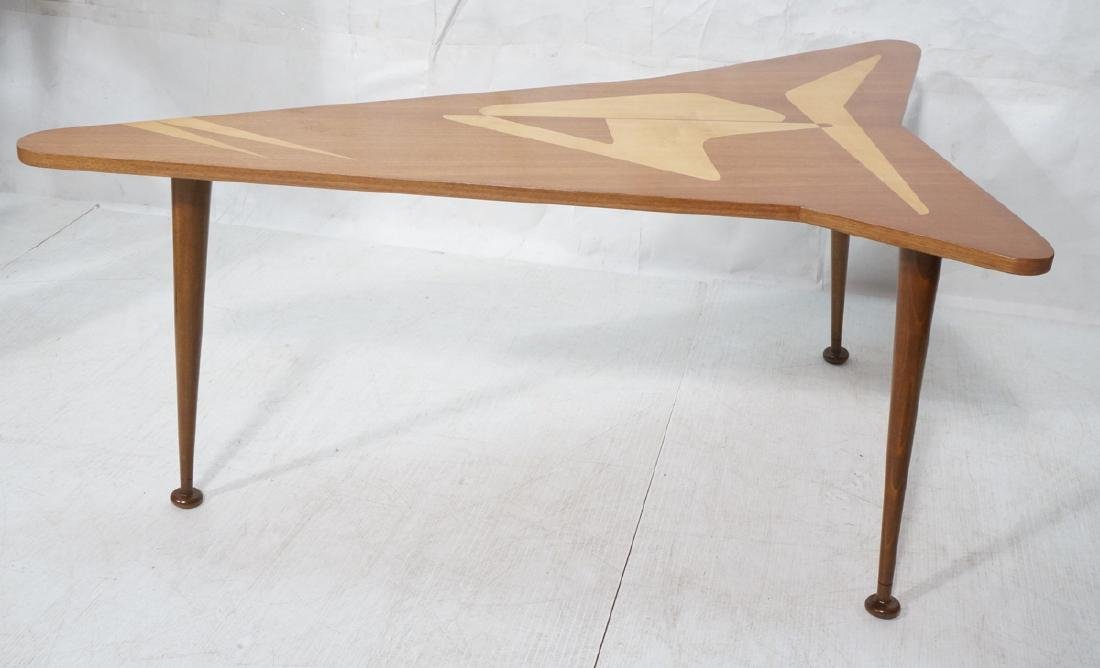 Italian style Modernist Cocktail Table. Shaped wo