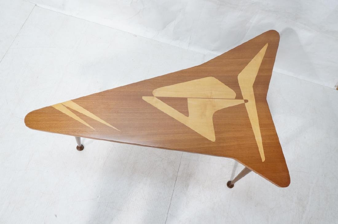 Italian style Modernist Cocktail Table. Shaped wo - 2