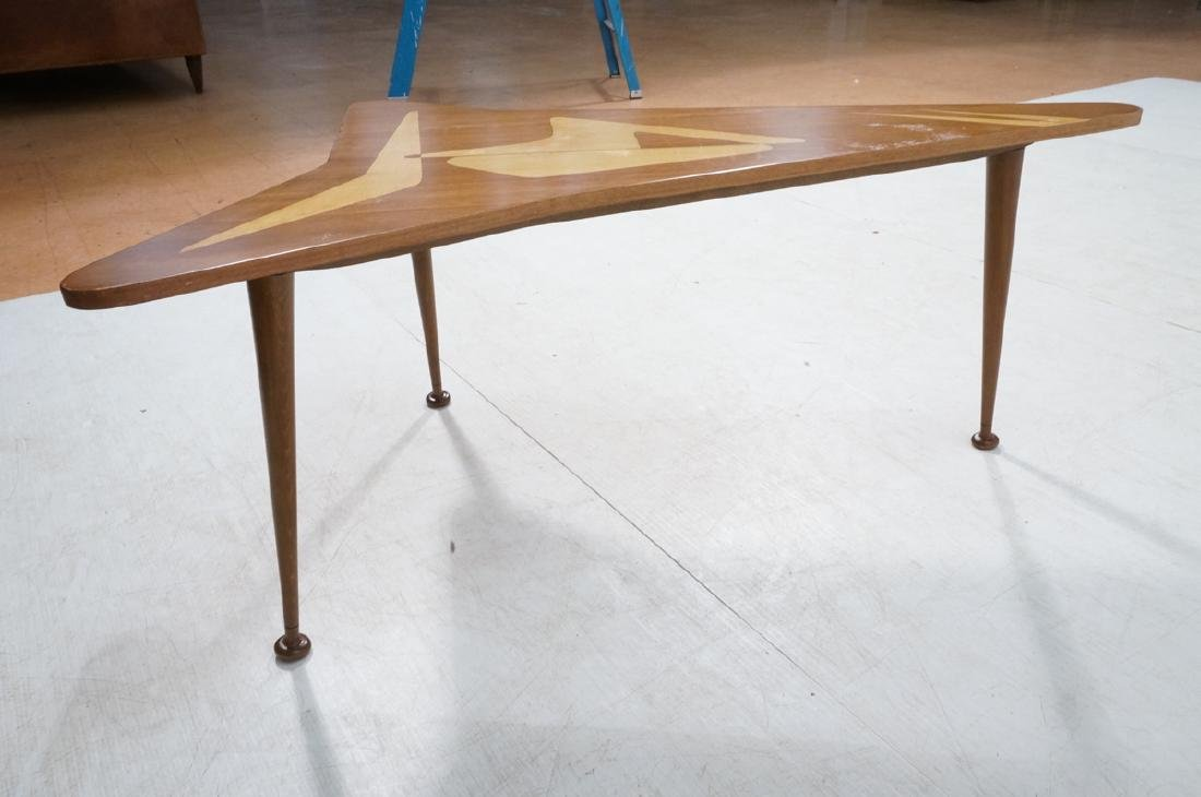 Italian style Modernist Cocktail Table. Shaped wo - 6