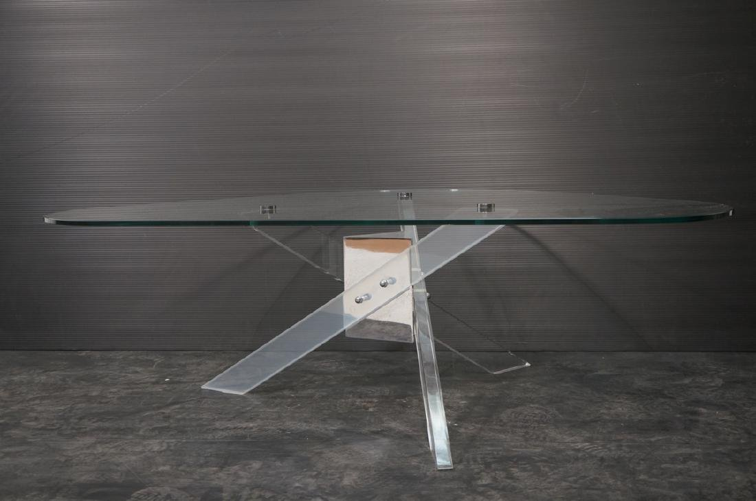 Hollis Jones style Lucite Base Cocktail Table. Th - 2