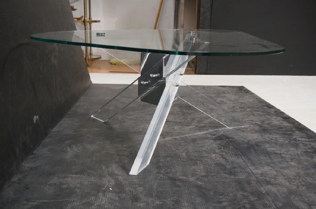 Hollis Jones style Lucite Base Cocktail Table. Th - 3