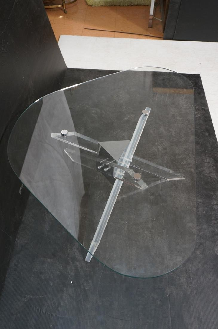 Hollis Jones style Lucite Base Cocktail Table. Th - 4