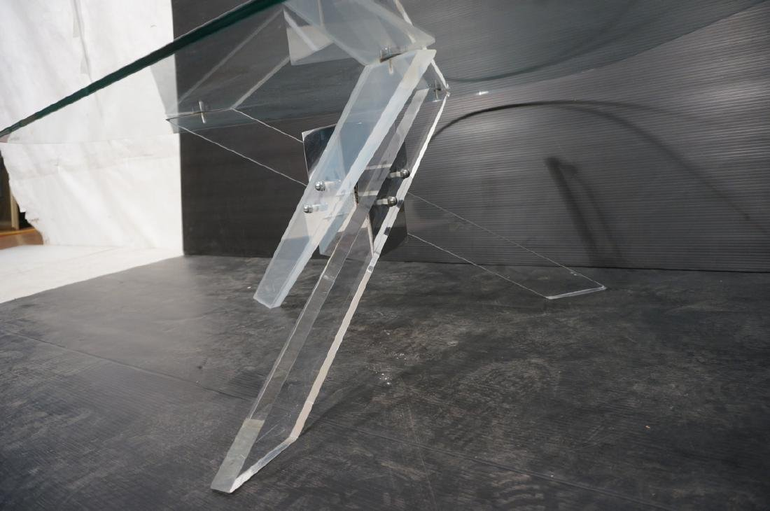 Hollis Jones style Lucite Base Cocktail Table. Th - 7