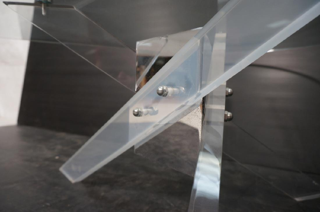 Hollis Jones style Lucite Base Cocktail Table. Th - 9