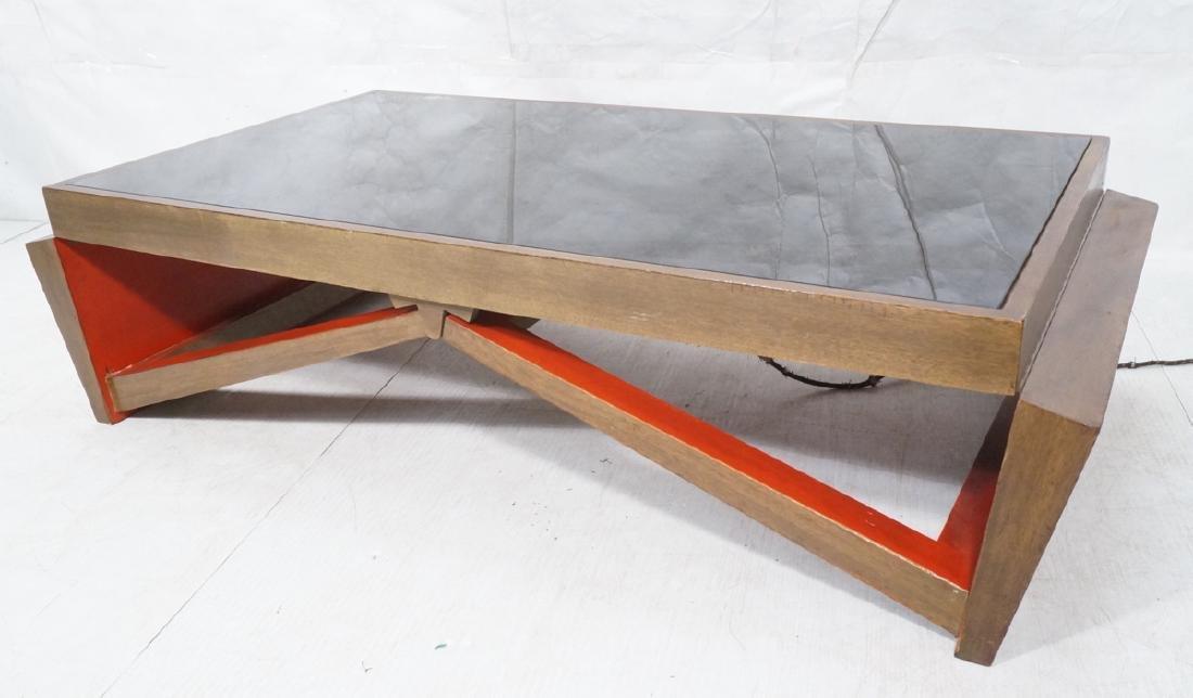 PAUL FRANKL Style Modernist Walnut Coffee Table C