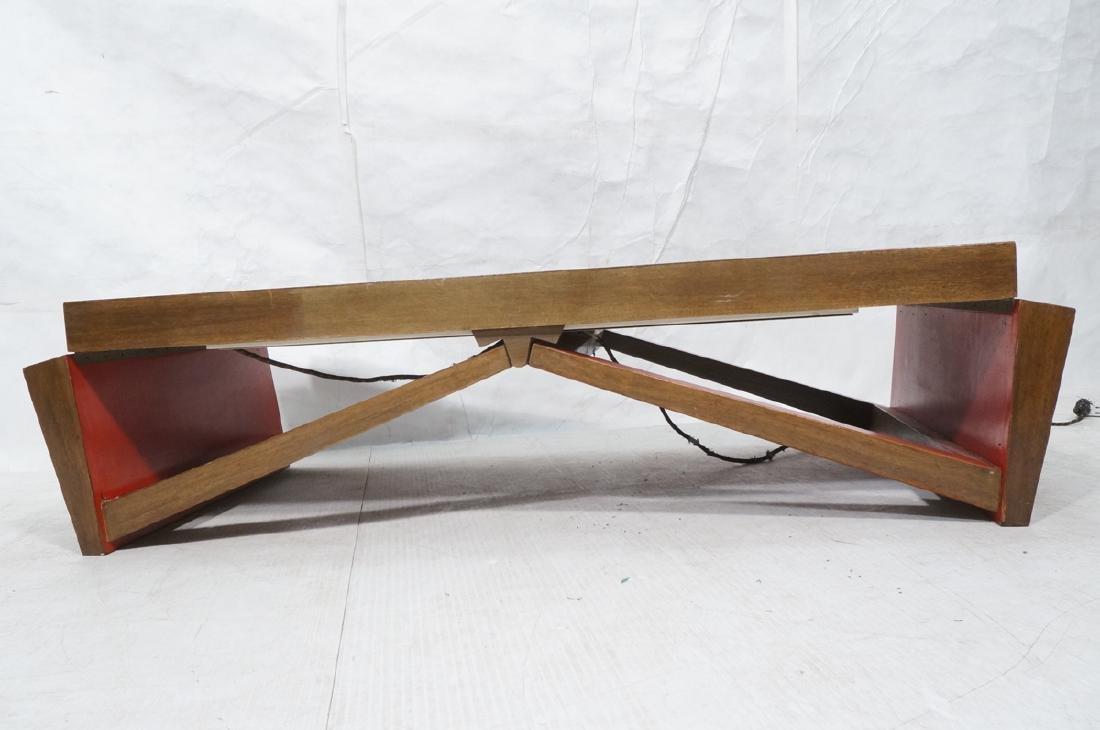 PAUL FRANKL Style Modernist Walnut Coffee Table C - 2