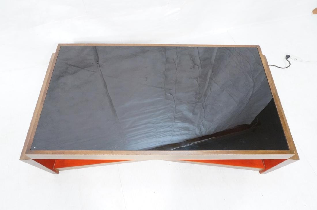 PAUL FRANKL Style Modernist Walnut Coffee Table C - 3