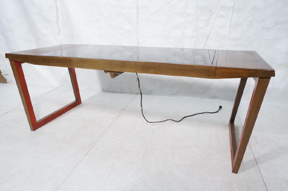 PAUL FRANKL Style Modernist Walnut Coffee Table C - 6