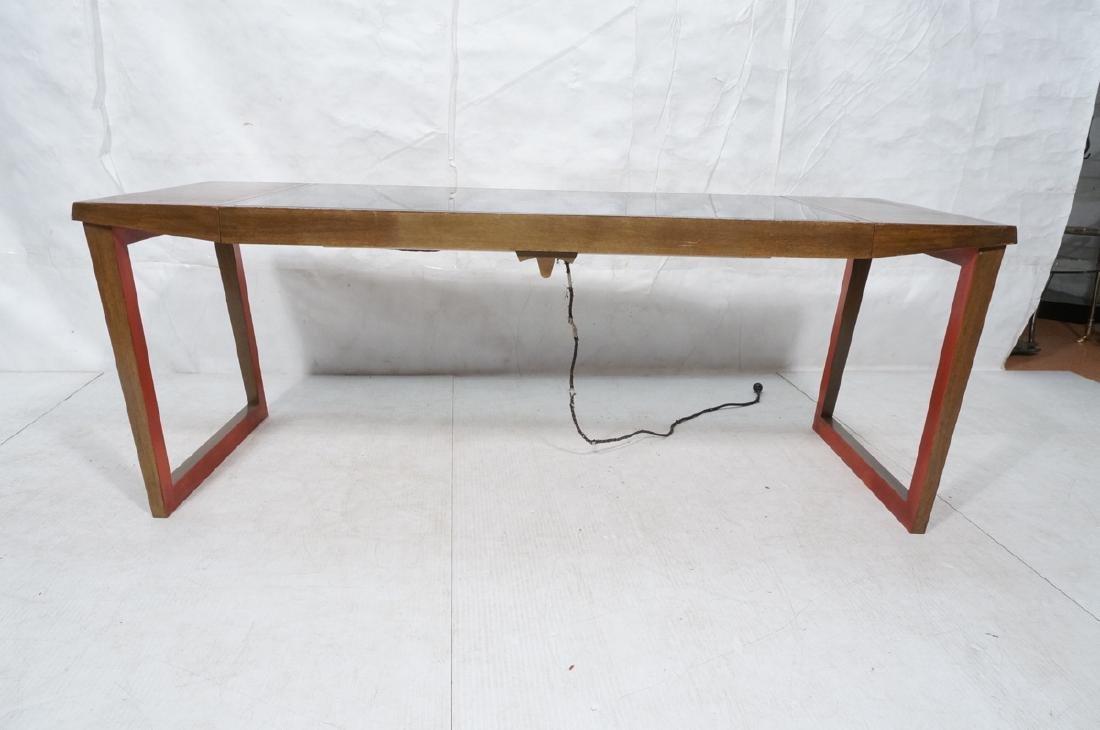 PAUL FRANKL Style Modernist Walnut Coffee Table C - 7
