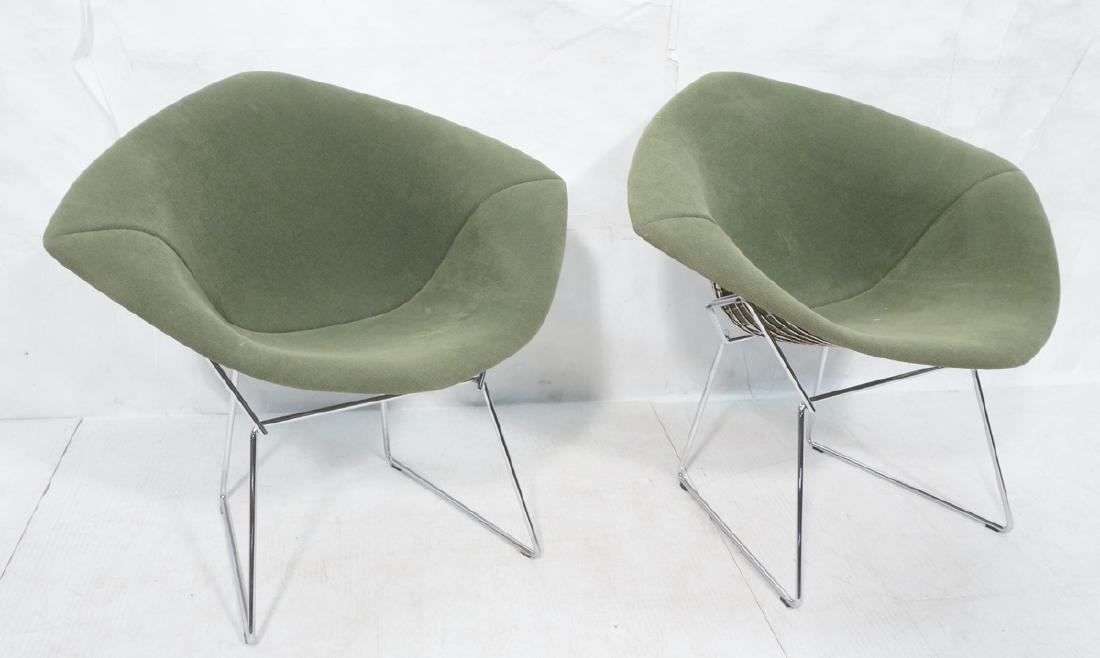 Pr HARRY BERTOIA for KNOLL Chrome Diamond Chairs.