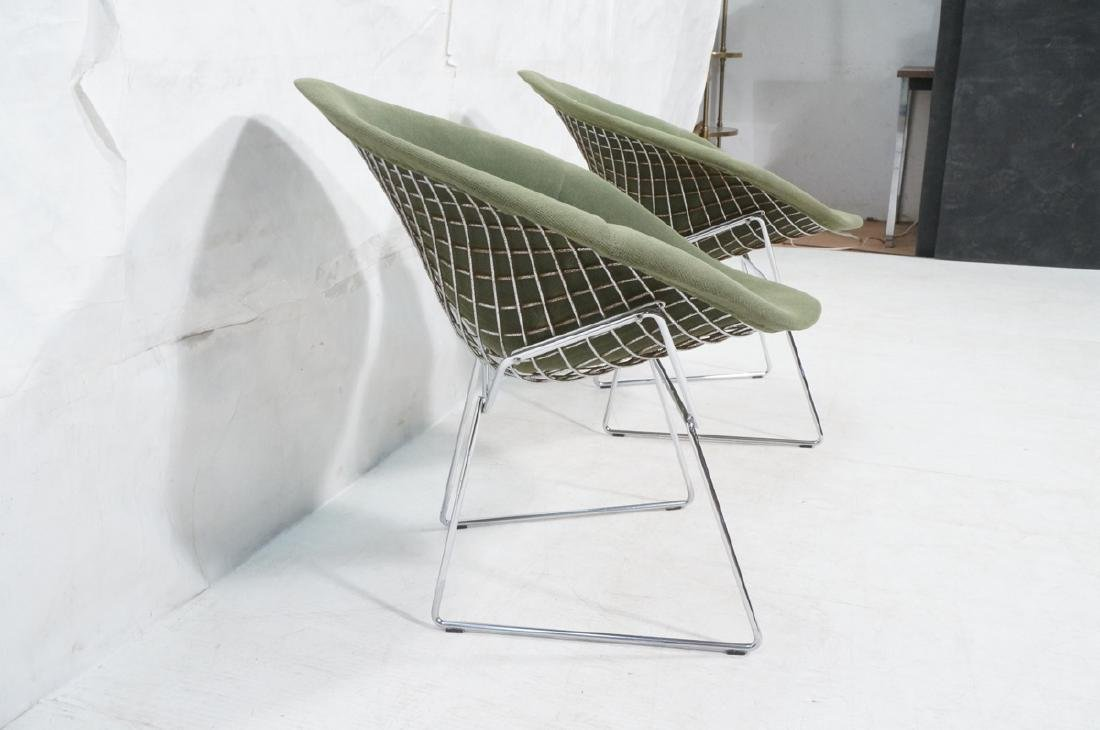 Pr HARRY BERTOIA for KNOLL Chrome Diamond Chairs. - 3