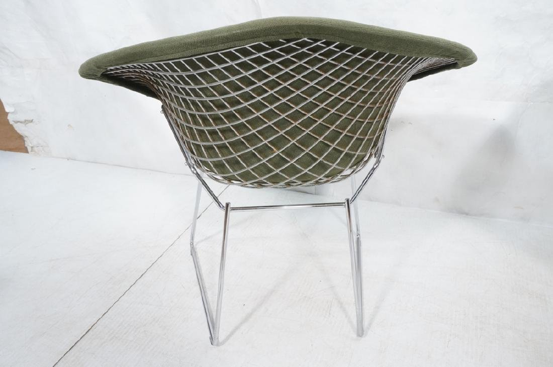 Pr HARRY BERTOIA for KNOLL Chrome Diamond Chairs. - 4