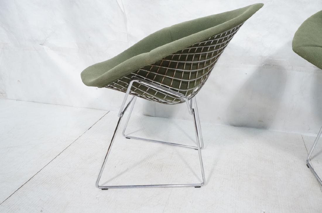 Pr HARRY BERTOIA for KNOLL Chrome Diamond Chairs. - 5