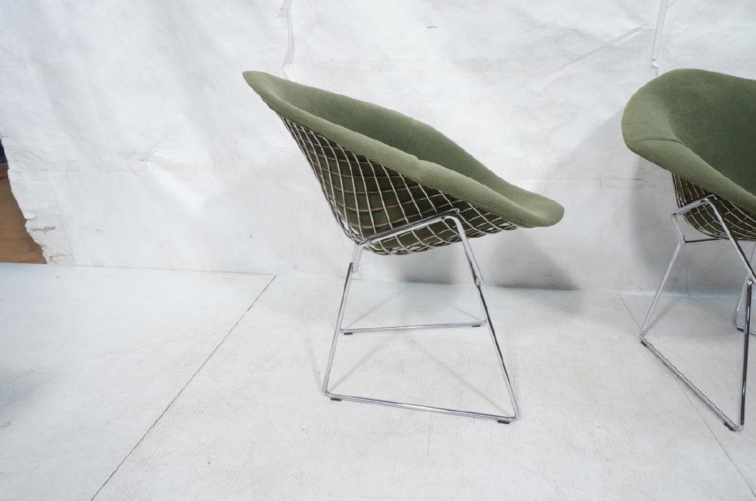 Pr HARRY BERTOIA for KNOLL Chrome Diamond Chairs. - 6