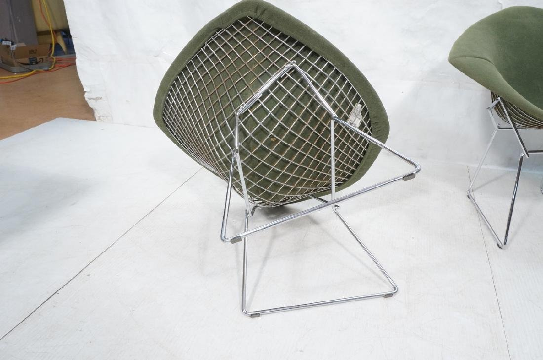 Pr HARRY BERTOIA for KNOLL Chrome Diamond Chairs. - 8