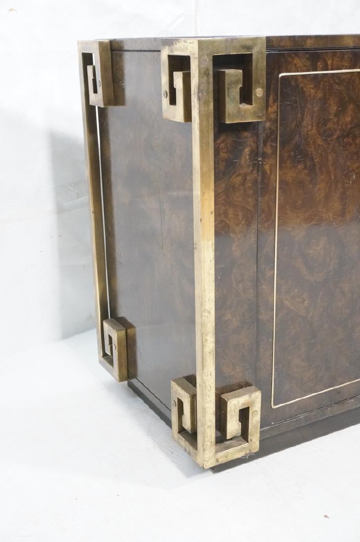 MASTERCRAFT Dark Burl Wood & Brass Credenza. Asia - 10