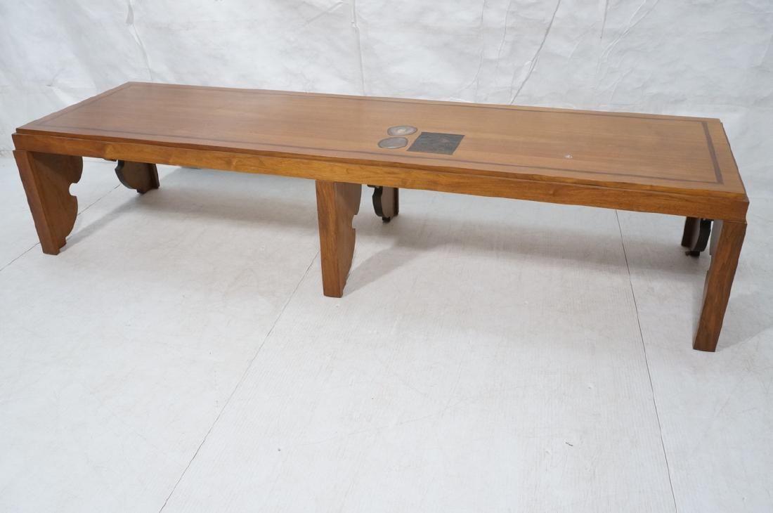 Oversized Teak Custom Design Coffee Table. Rectan