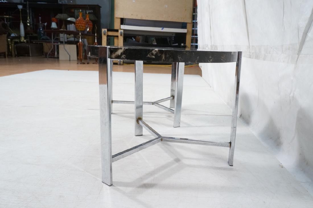 "Pr Black Composite Chrome Frame End Tables. 1.25"" - 4"