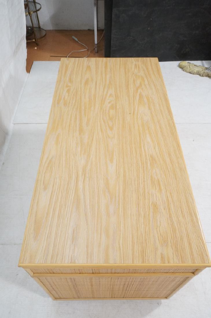 Bamboo Woven Rattan Modern Desk. Wood grain lamin - 4