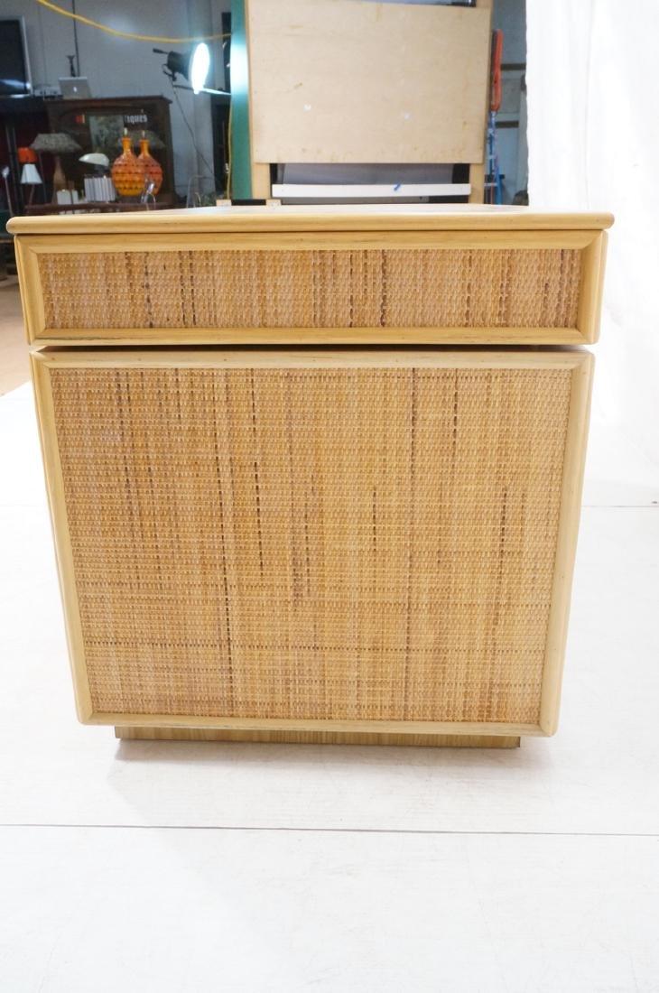 Bamboo Woven Rattan Modern Desk. Wood grain lamin - 5