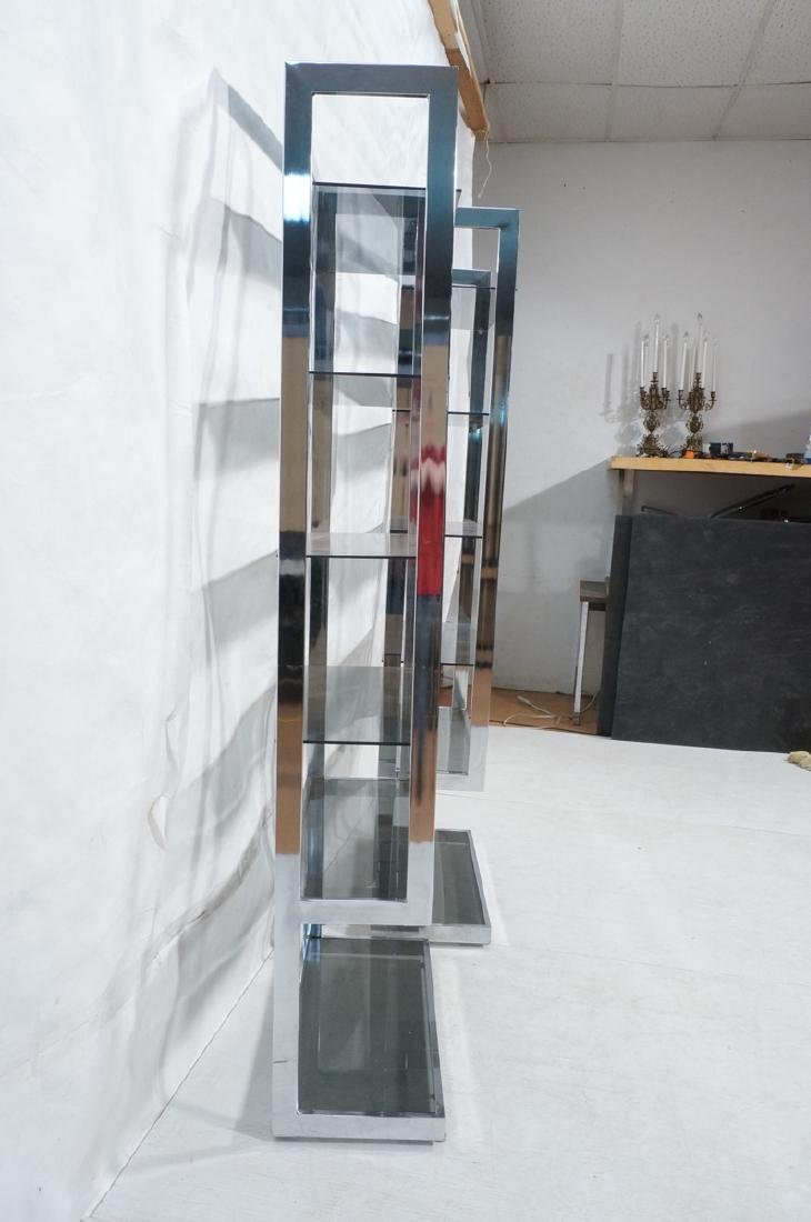 Pr Modernist Chrome Etagere Display Units. Tall u - 3