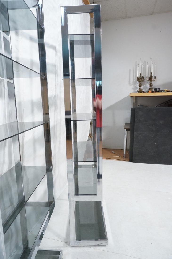 Pr Modernist Chrome Etagere Display Units. Tall u - 4