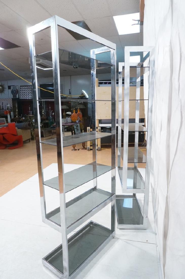 Pr Modernist Chrome Etagere Display Units. Tall u - 6