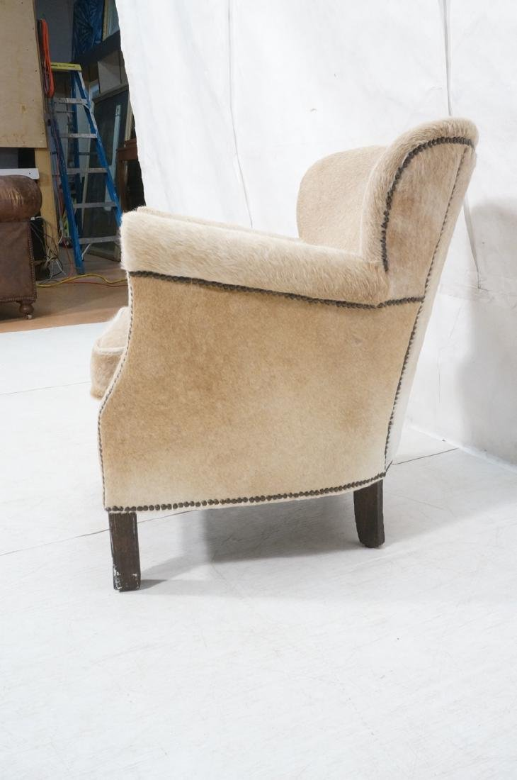 RESTORATION HARDWARE Natural Fur Hide Lounge Chai - 3