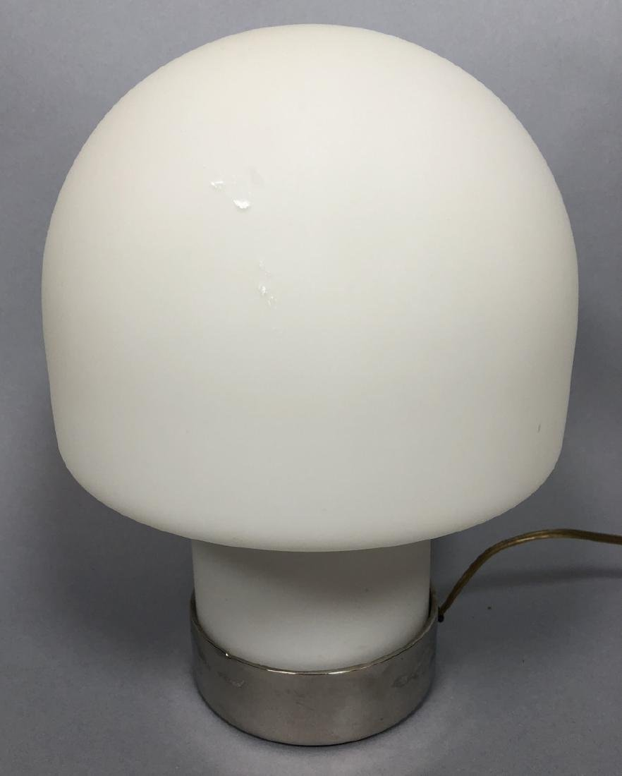 LAUREL Frosted Milk Glass Mushroom Table Lamp. Wi
